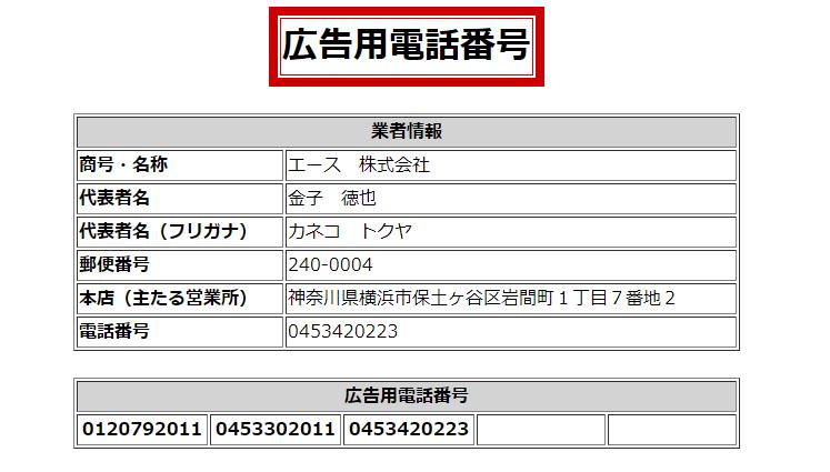 エース株式会社 闇金